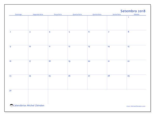 Calendário setembro 2018, Ursus