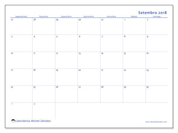 Calendário setembro 2018, Vitus
