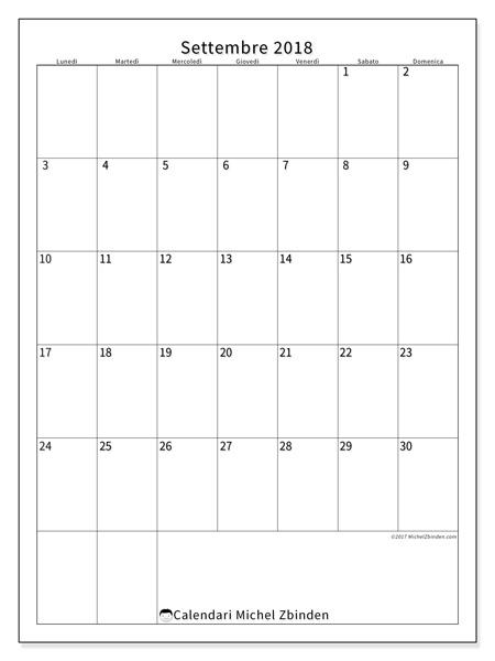 Calendario settembre 2018, Antonius