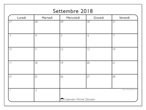 Calendario settembre 2018, Egidius