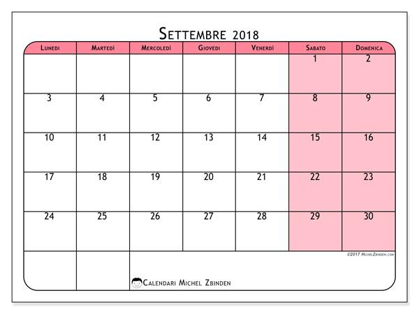 Calendario settembre 2018, Severinus