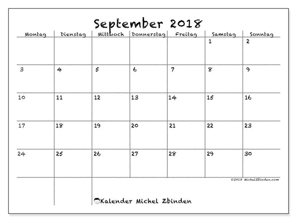 Kalender September 2018 77ms Michel Zbinden De