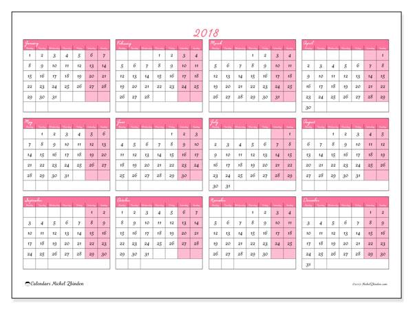 Calendar  2018, 41MS