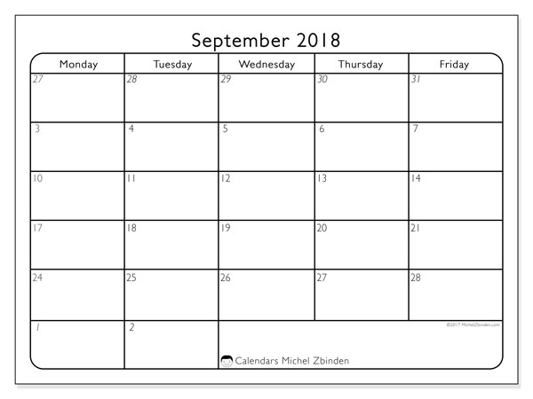 calendar september 2018 74mf calendar to print free