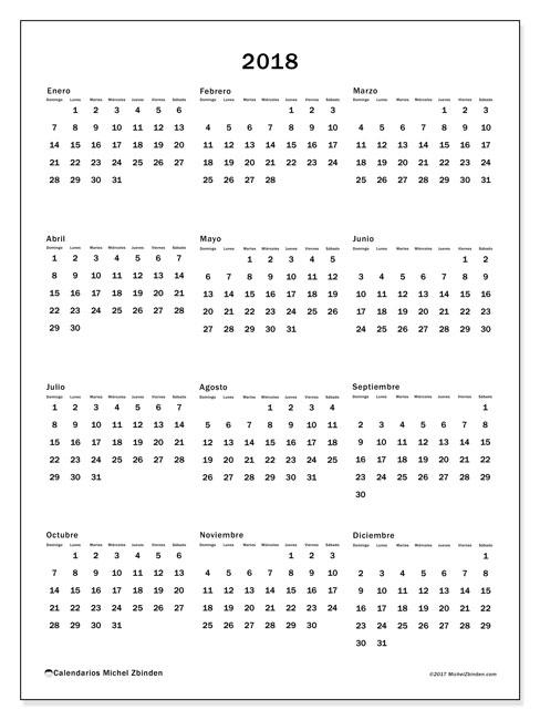 Calendario  2018, 33DS