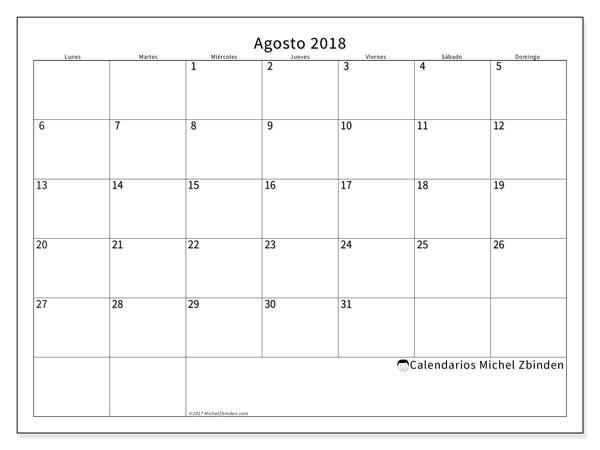 22ce13218 Calendarios agosto 2018 (LD) - Michel Zbinden ES