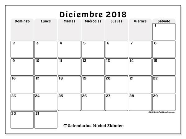 Calendario Diciembre 2018 Argentina.Calendarios Diciembre 2018 Ds Michel Zbinden Es