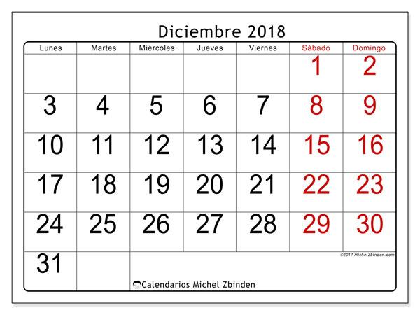 Calendario Diciembre 2018 Para Imprimir.Calendario Diciembre 2018 62ld Michel Zbinden Es