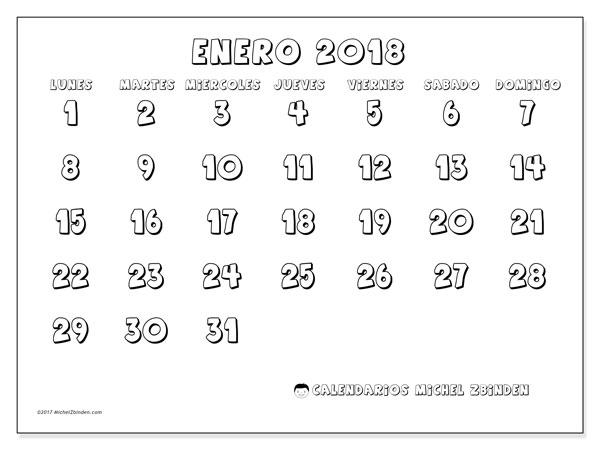 Calendarios enero 2018 (LD) - Michel Zbinden (es)