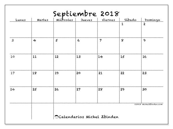 Calendario Michel Zbinden.Calendario Mes De Septiembre 2019 Teriz Yasamayolver Com