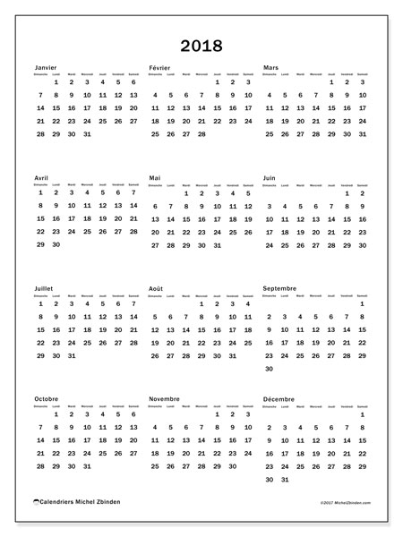 Calendrier  2018, 33DS