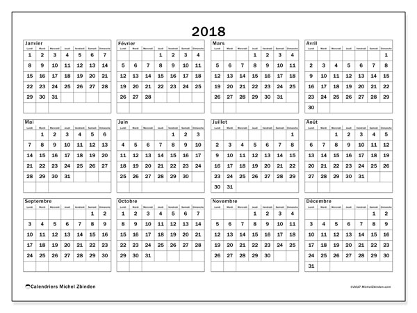 Calendrier 2018 (34LD)