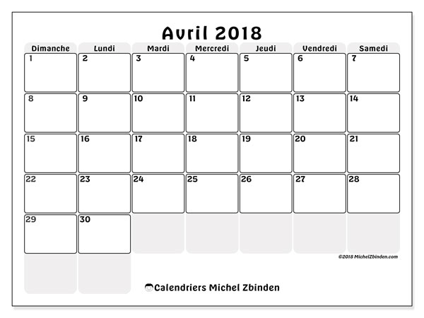 Calendrier avril 2018 (44DS).