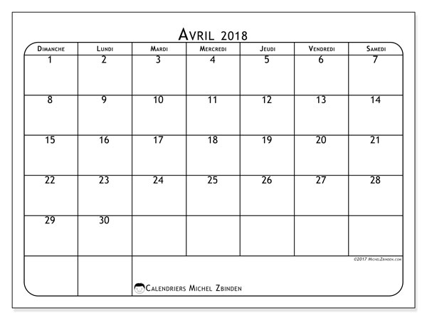 Calendrier avril 2018 (51DS).