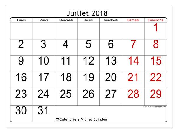 calendrier juillet 2018 62ld michel zbinden fr. Black Bedroom Furniture Sets. Home Design Ideas
