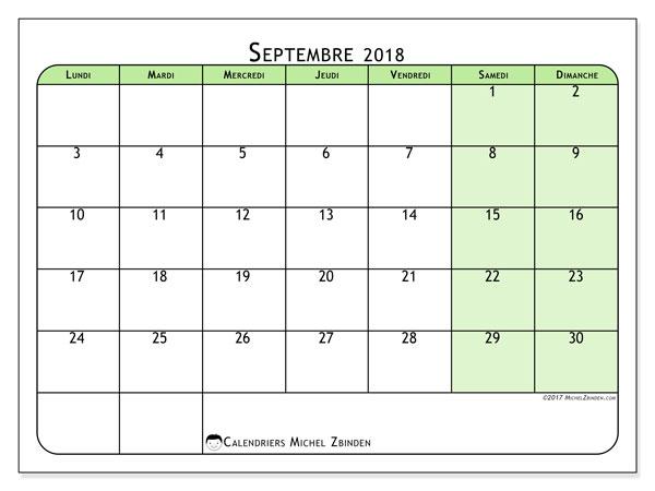 "Calendrier à Imprimer Septembre 2018 à Septembre 2021 Calendrier ""65LD"" septembre 2018 à imprimer   Michel Zbinden FR"
