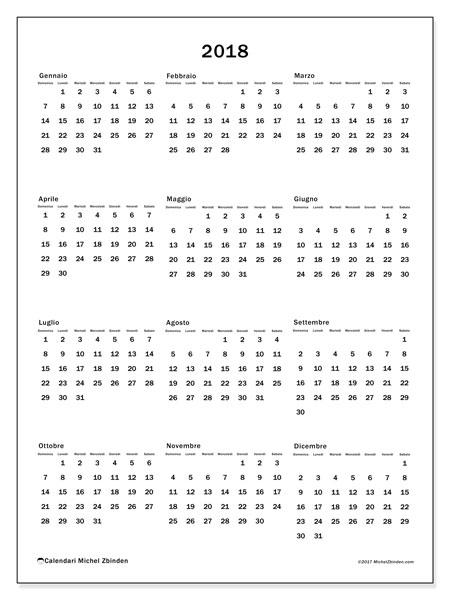Calendario 2018 (33DS). Calendario per la stampa gratis.