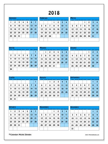 Calendario  2018, 40LD