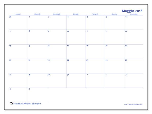 Calendario Scrivibile.Calendario Maggio 2018 73ld Michel Zbinden It