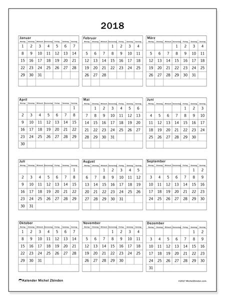 Kalender  2018 - Johannes (de)