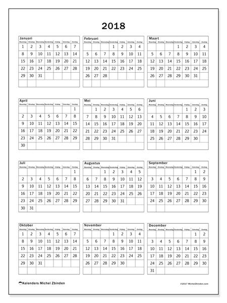 Kalender  2018, Johannes