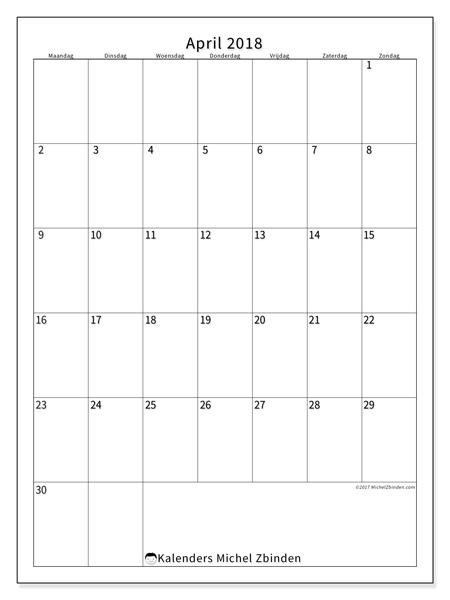 Kalender april 2018, Antonius