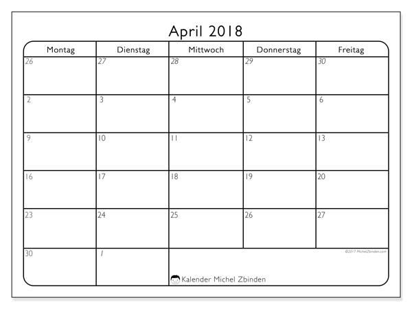 Kalender April 2018, Egidius