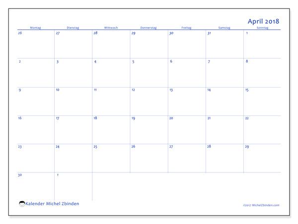 Kalender April 2018, Vitus