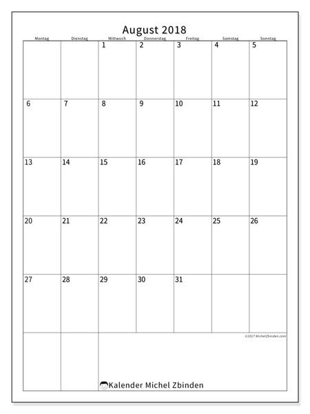 Kalender August 2018, Antonius