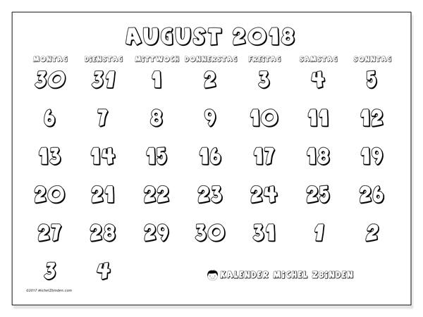 Kalender August 2018, Hilarius
