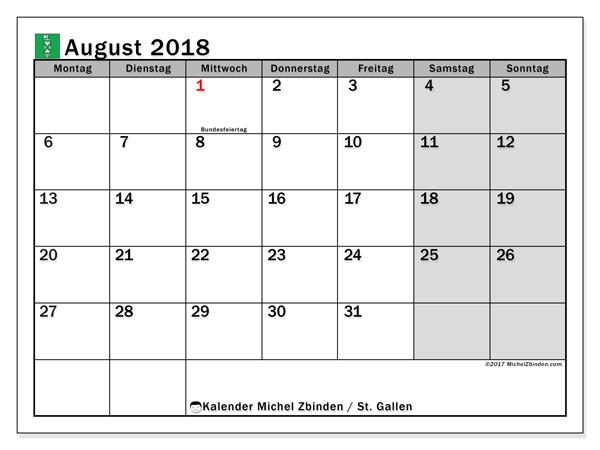 st gallen kalender