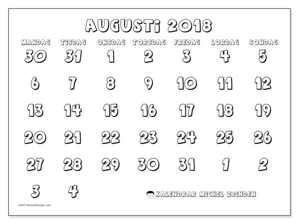 Kalender augusti 2018, Hilarius