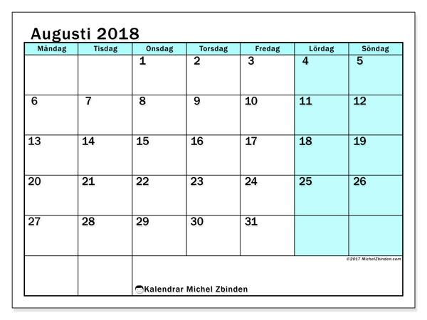 Kalender augusti 2018, Laurentia