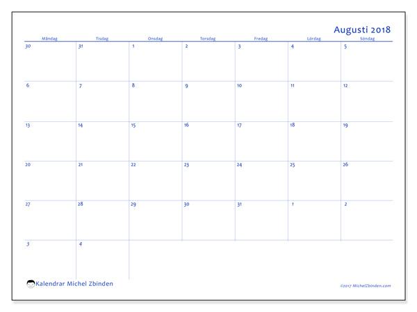 Kalender augusti 2018, Vitus