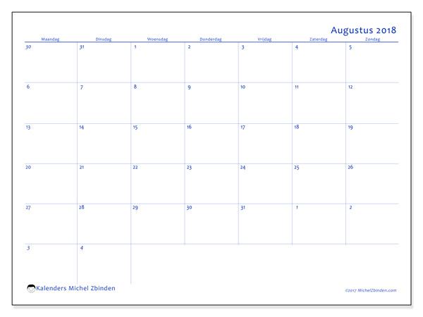 Kalender augustus 2018, Vitus