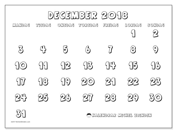 Kalender december 2018, Adrianus