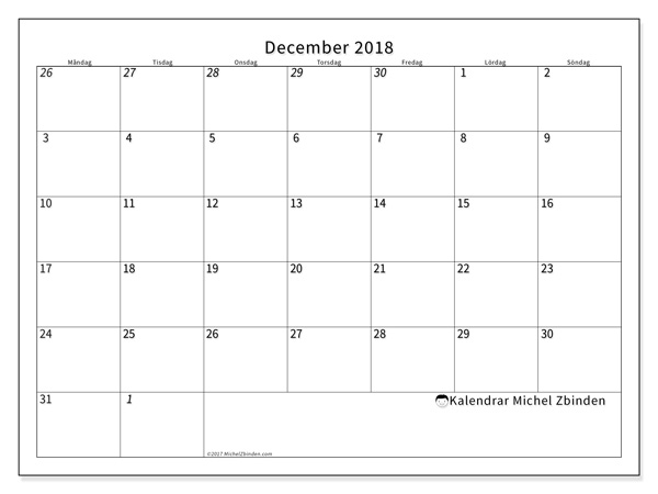 Kalender december 2018, Deodatus
