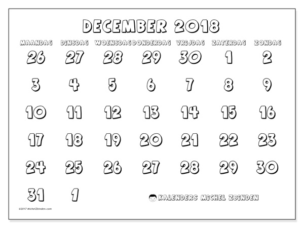 Kalender december 2018, Hilarius