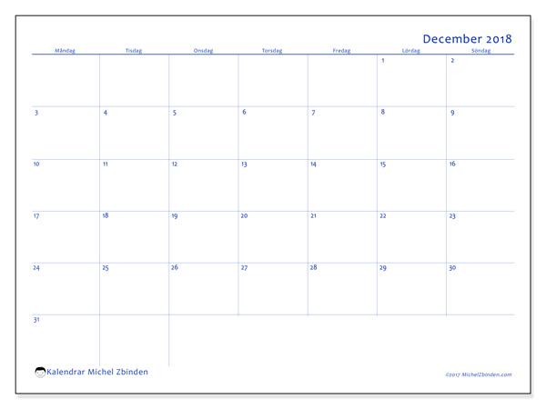 Kalender december 2018, Ursus