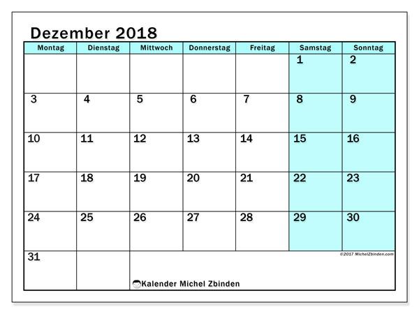 Kalender Dezember 2018, Laurentia