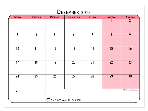 Kalender Dezember 2018, Severinus