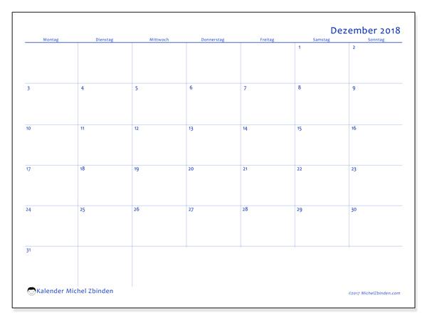 Kalender Dezember 2018, Ursus