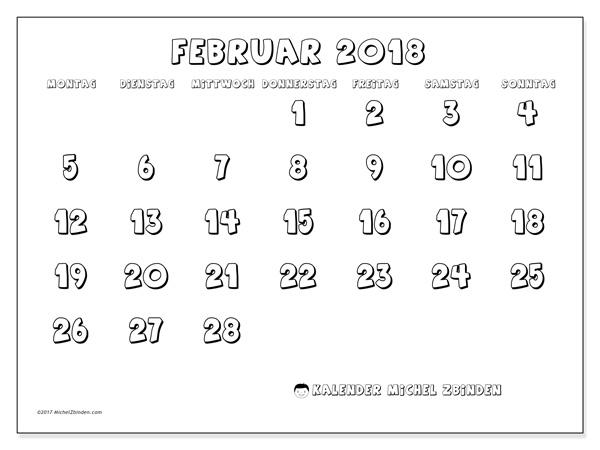 Kalender Februar 2018, Adrianus