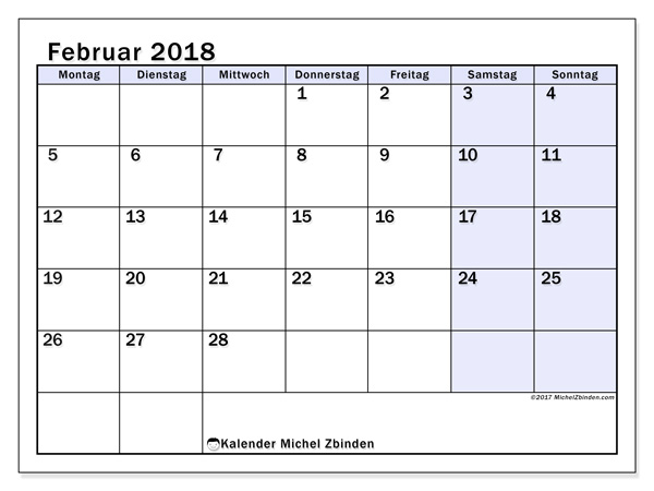 Kalender Februar 2018, Auxilius