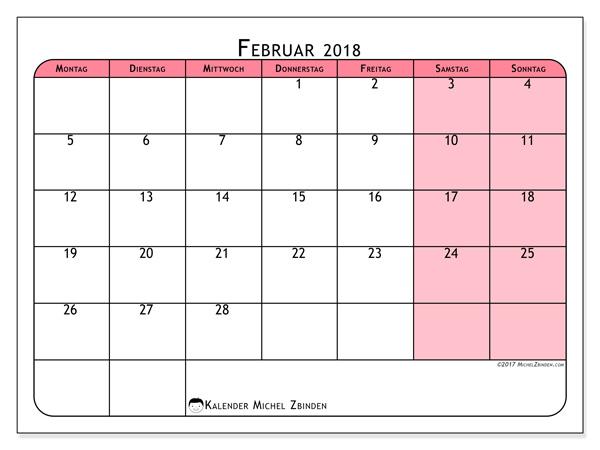 Kalender Februar 2018, Severinus