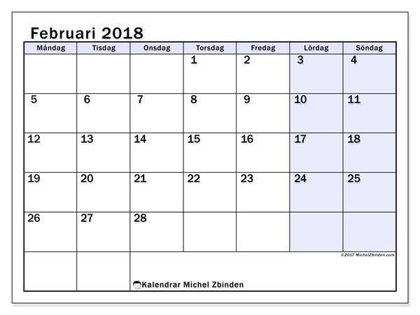 Kalender februari 2018, Auxilius