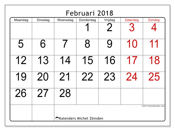 Kalender februari 2018, Emericus
