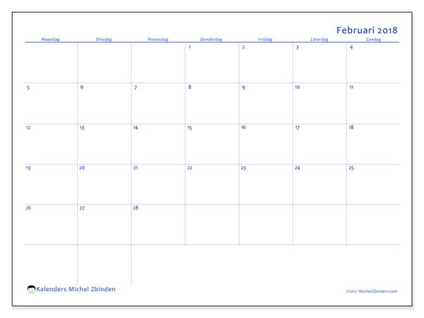 Kalender februari 2018, Ursus