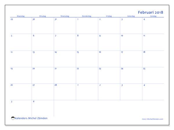 Kalender februari 2018, Vitus