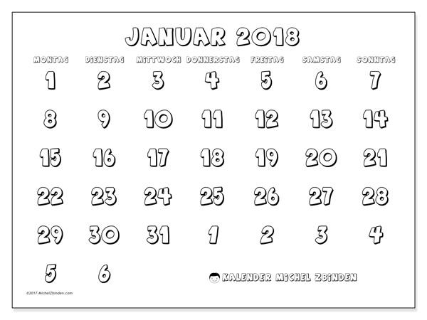 Kalender Januar 2018, Hilarius